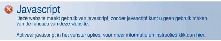 Javascript is uitgeschakeld